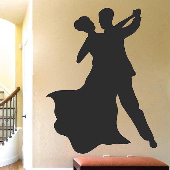 ballroom dancers wall decal - wall decals ballroom dancing dance