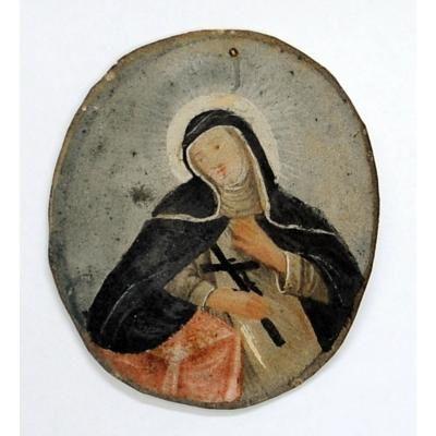 Santa Catalina de Siena  Tipo de bien :  Pintura  Museo :  Museo Nacional De Arqueología, Antropología E Historia Del Perú  Estilo :  No determinado  Escuela :  Lima