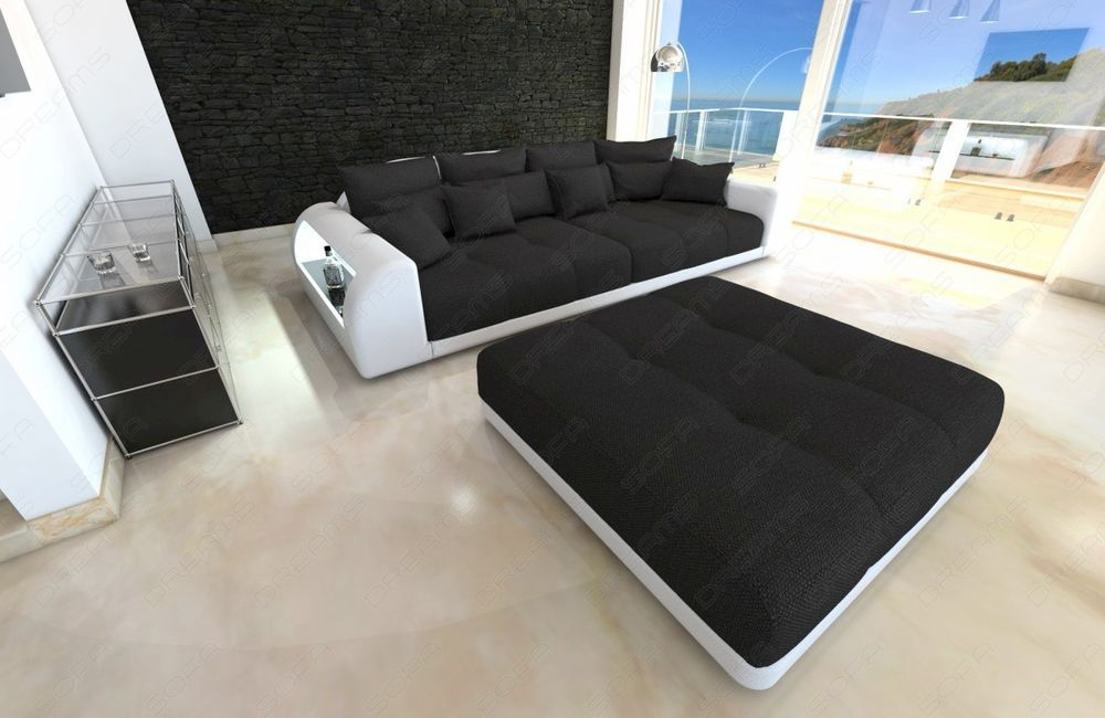 Super Xxl Big Sectional Sofa Bed Miami With Led Lights Rgb Camellatalisay Diy Chair Ideas Camellatalisaycom