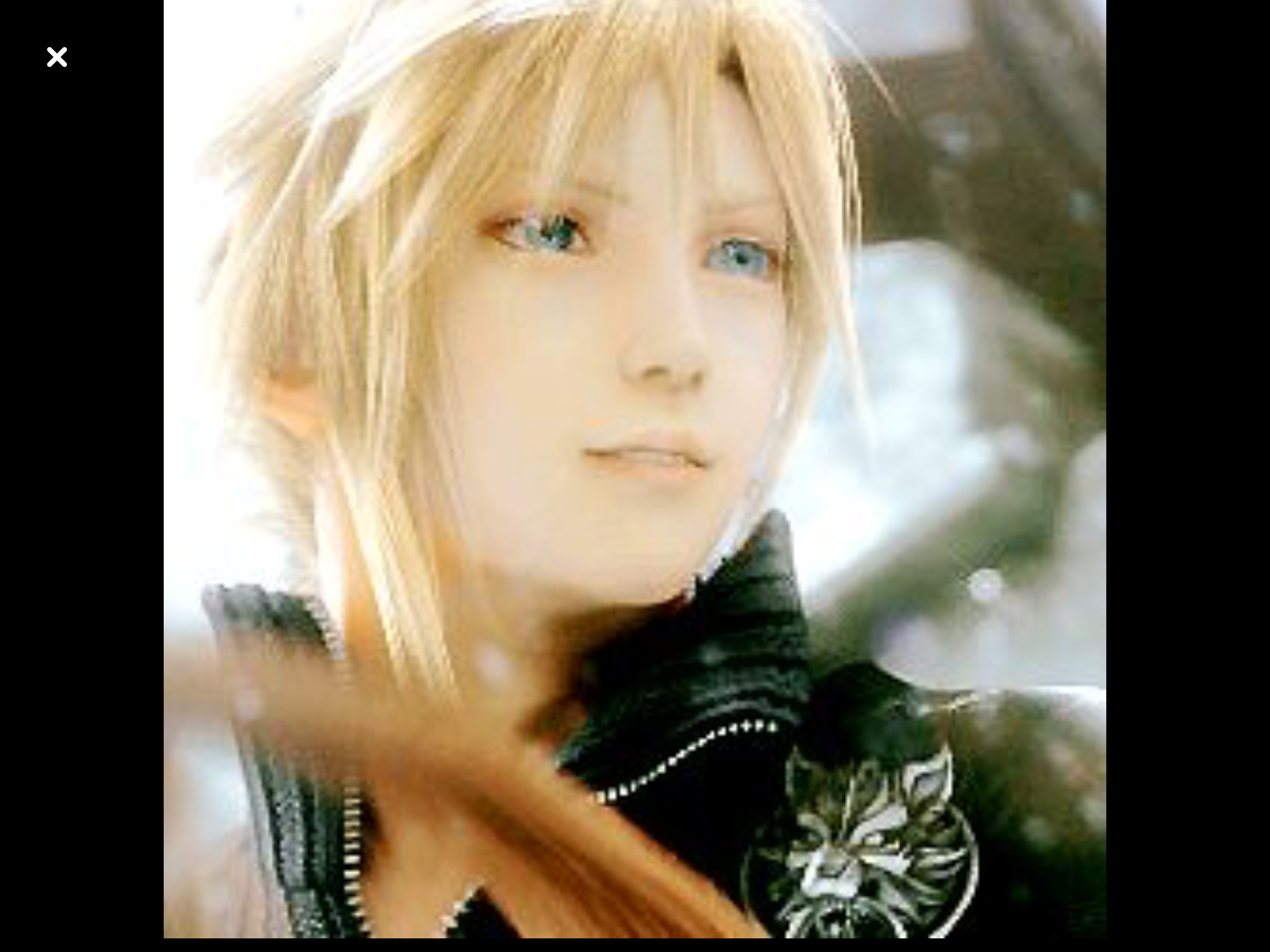 awww cloudy actually smiling cloud strife pinterest final