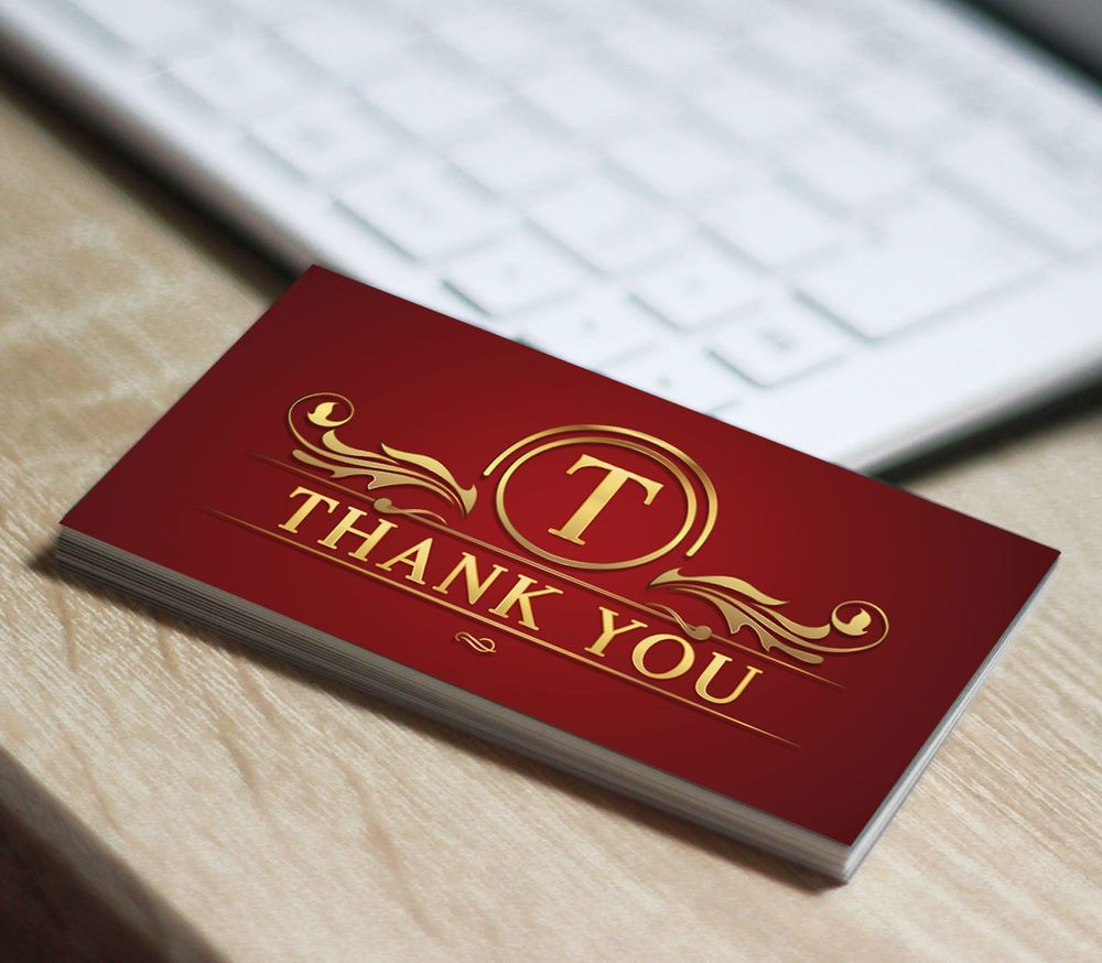 250 Thank You Business Card Printing for the Ebay Seller Qty 250 ...