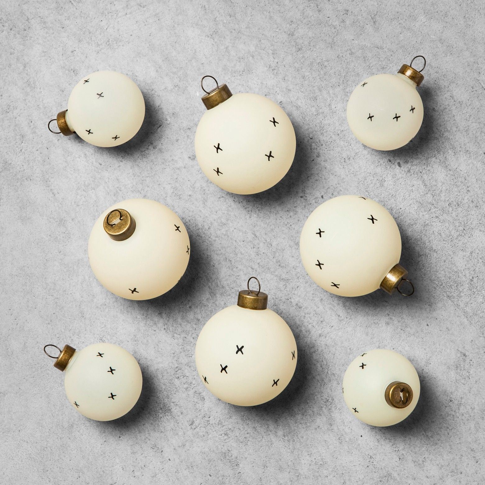 Patterned Ornament Set (8pc) - Cream - Hearth & Hand™ with Magnolia : Target