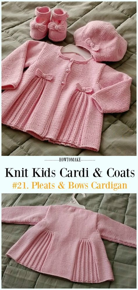 Kids Cardigan Sweater Free Knitting Patterns Pinterest Baby