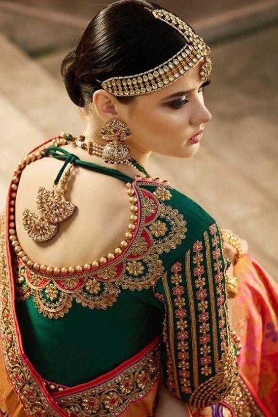 20 Latest Stylish Saree Blouse Back Neck Designs 2020 Buy Lehenga Choli Online In 2020 Fancy Blouse Designs Trendy Blouse Designs Fashion Blouse Design