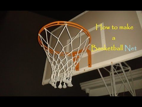 How To Make A Basketball Net 12 Strings Basketball Net Hoop Net Diy Basketball