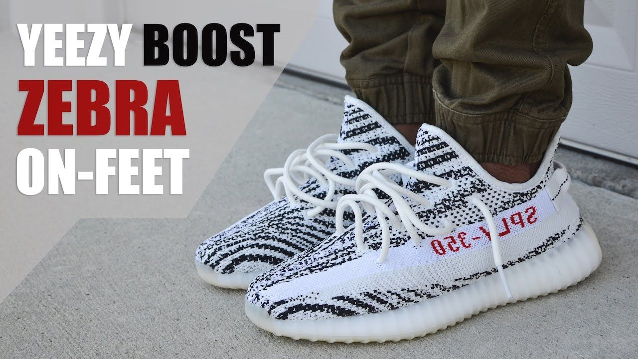 "45c323b87ec36 SUPER LIMITED!! YEEZY BOOST 350 V2 ""ZEBRA"" REVIEW + ON-FEET ..."