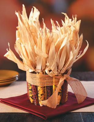How To Make An Indian Corn Centerpiece Thanksgiving Decorations Fresh Home