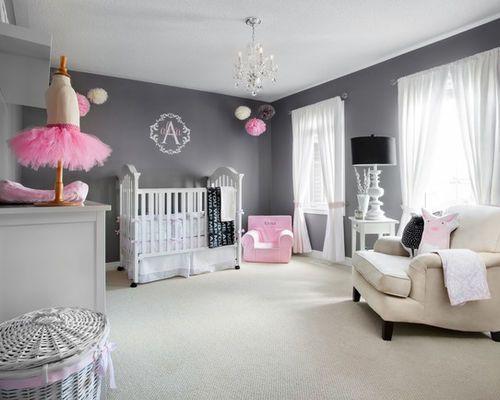 ralisation dune grande chambre de bb fille design avec un mur gris et un - Grande Chambre Fille