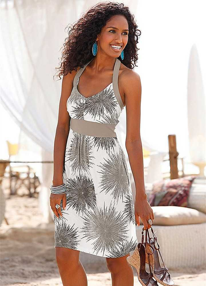 Sundresses for the Beach | Beachtime Olive Palm Tree Print Beach ...