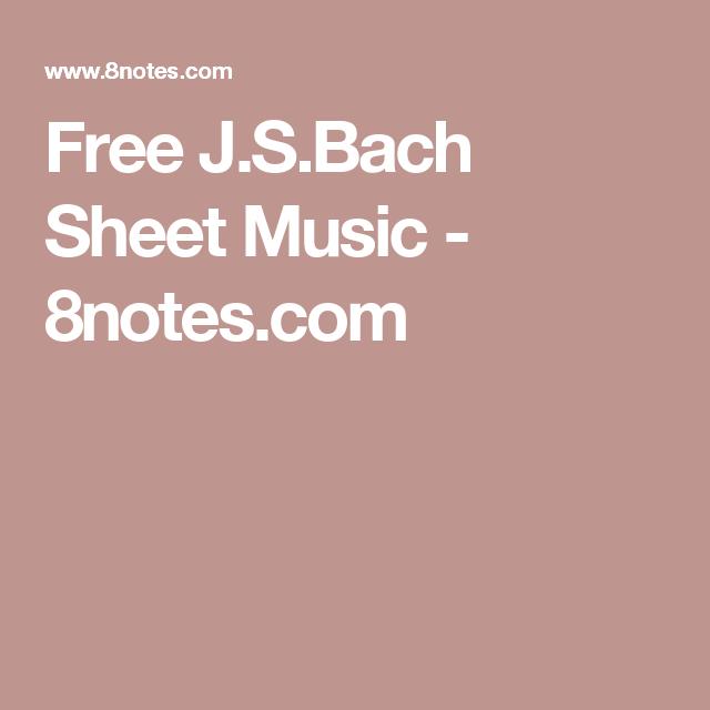 Free Jsch Sheet Music 8notes Piano Pinterest Sheet