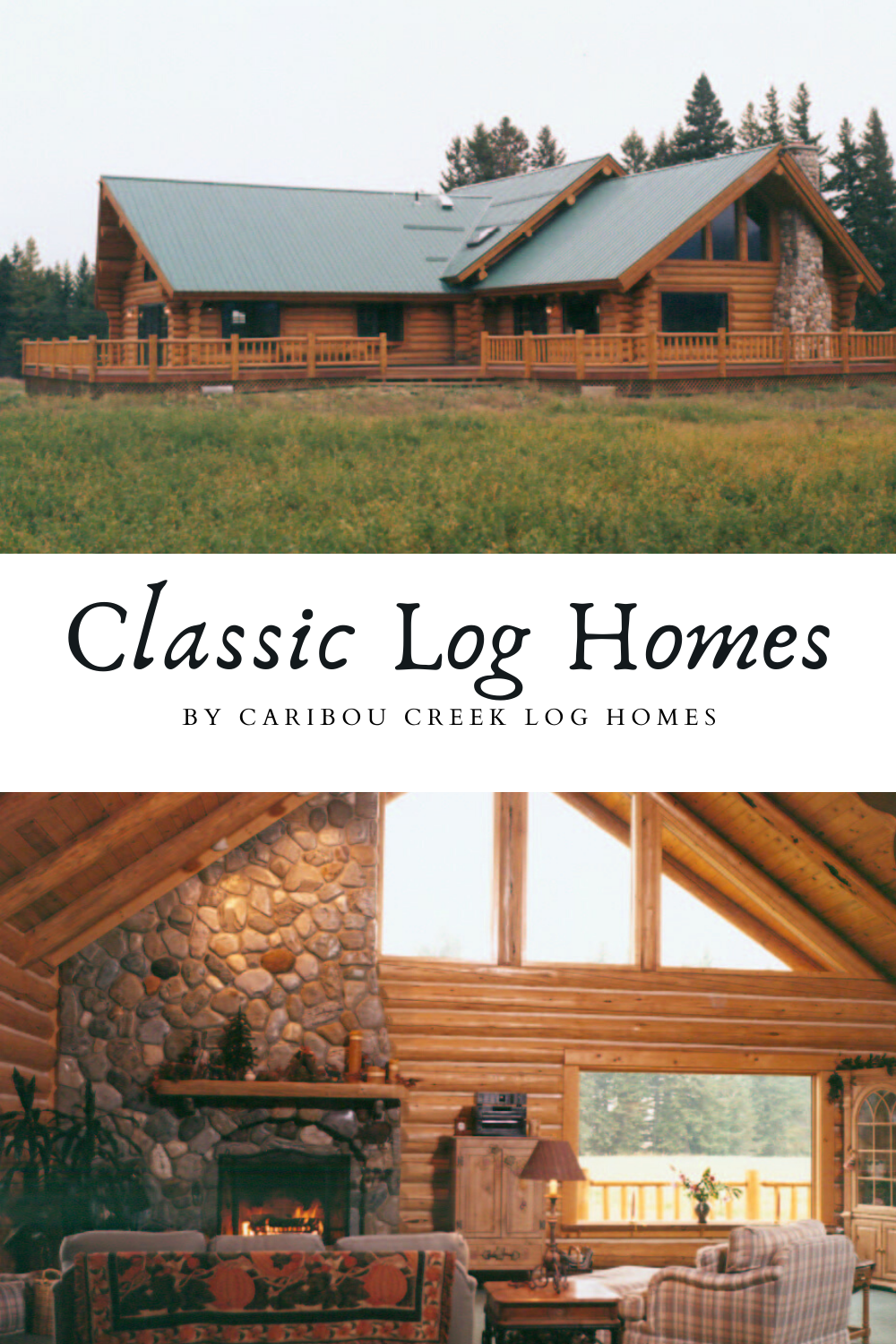 6 Best Classic Log Cabins From Caribou Creek Log Homes In 2020 Log Homes Log Cabin Exterior Log Home Builders