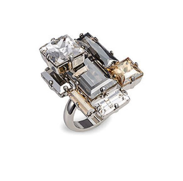 b590116f4e21 NIB  260 Atelier Swarovski Manhattan Ring by Philippe Ferrandis 52 6 S  5185992