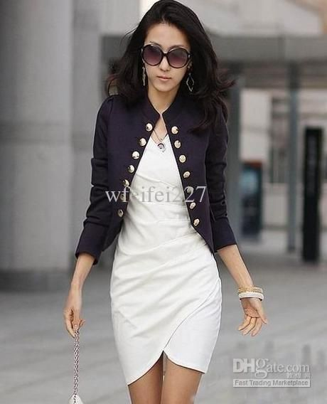 Wholesale - womens Ladies fashion clothing coat blazer lady jacket ...
