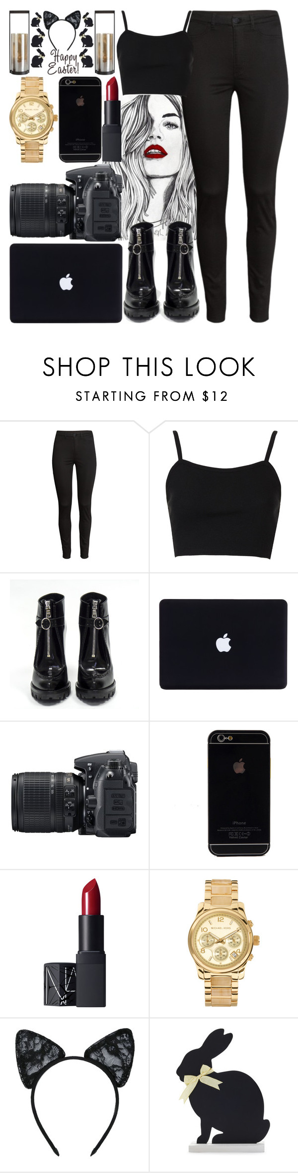 """*1079"" by asoc10 ❤ liked on Polyvore featuring H&M, Topshop, Prada, Nikon, NARS Cosmetics, Michael Kors, Maison Close, Sur La Table, saturday and 26"