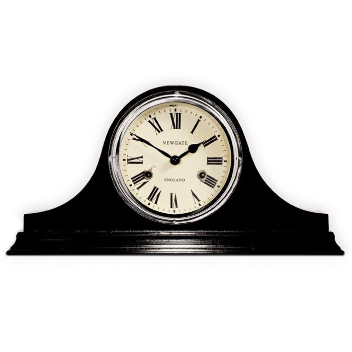 newgate brompton mantel clock black got to have it - Mantel Clock