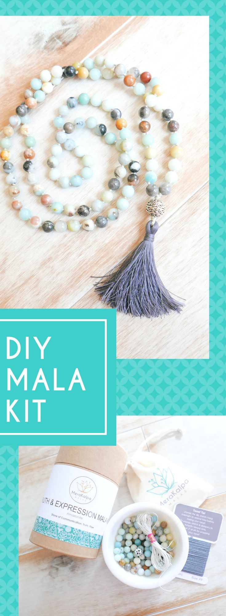 Truth Expression Mala Kit Mala Necklace Diy Mala Meditation