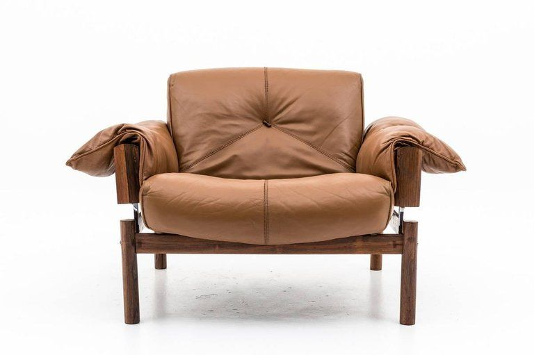 Superb Two Midcentury Brazilian Lounge Chairs In Leather And Ibusinesslaw Wood Chair Design Ideas Ibusinesslaworg
