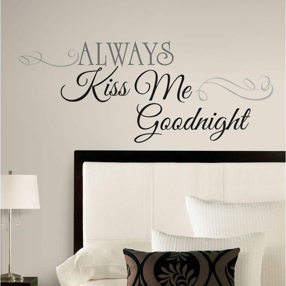 Always Kiss Me Goodnight 11 Piece Peel And Stick Wall Decals