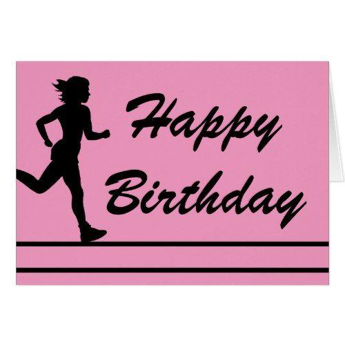 Runner Lady Happy Birthday Card Zazzle Com Happy Birthday Cards Birthday Quotes Happy Birthday Honey
