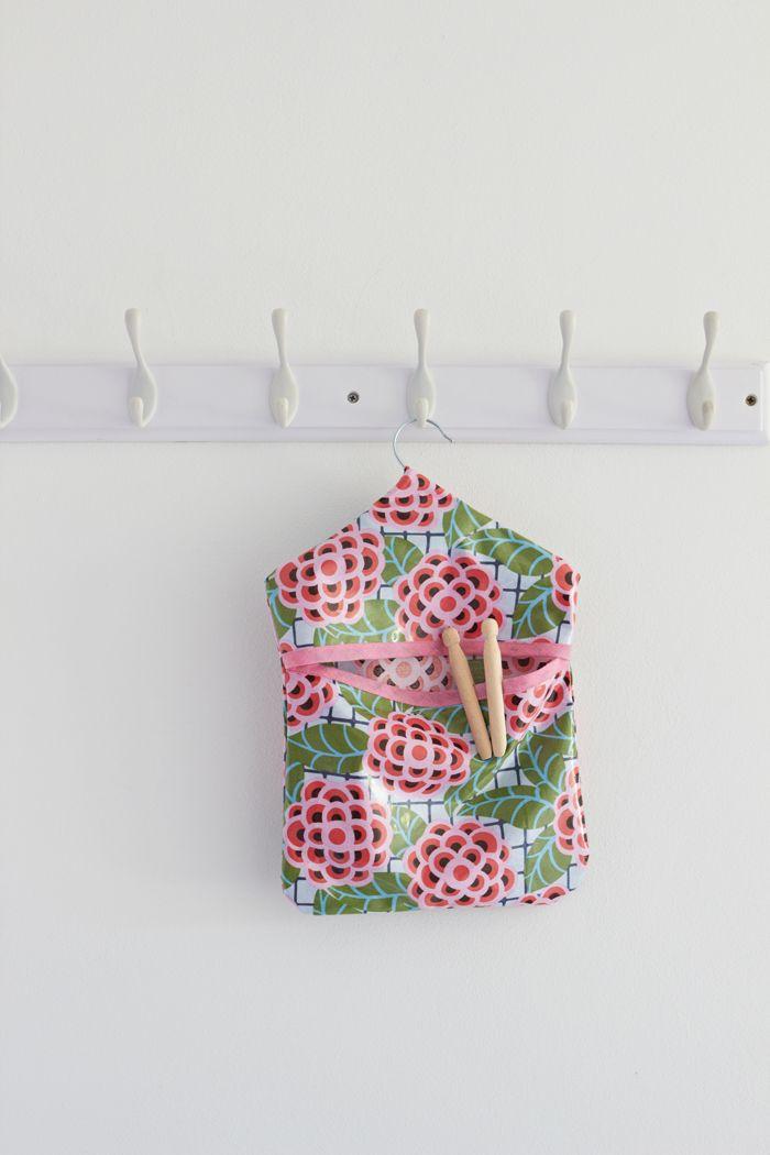 Modern Vintage Peg Bag Sewing Pattern | Nähen für Anfänger, Wohndeko ...