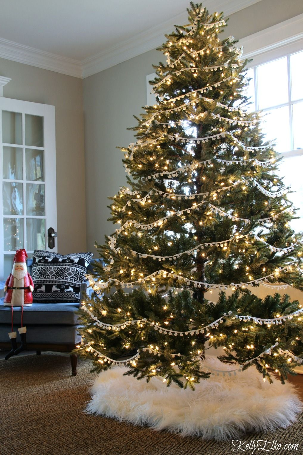 Let S Stay Home For Christmas Home Tour Christmas Tree Design Christmas Tree Garland Christmas Tree Themes
