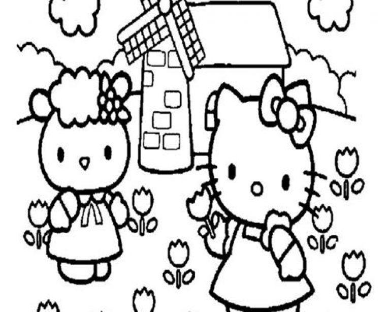 Kumpulan Gambar Untuk Mewarnai Anak Paud Hello Kitty Warna Gambar