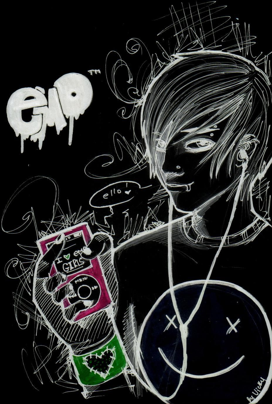 Emo Girl Wallpaper Wallpaper In 2019 Emo Wallpaper Emo Cartoons