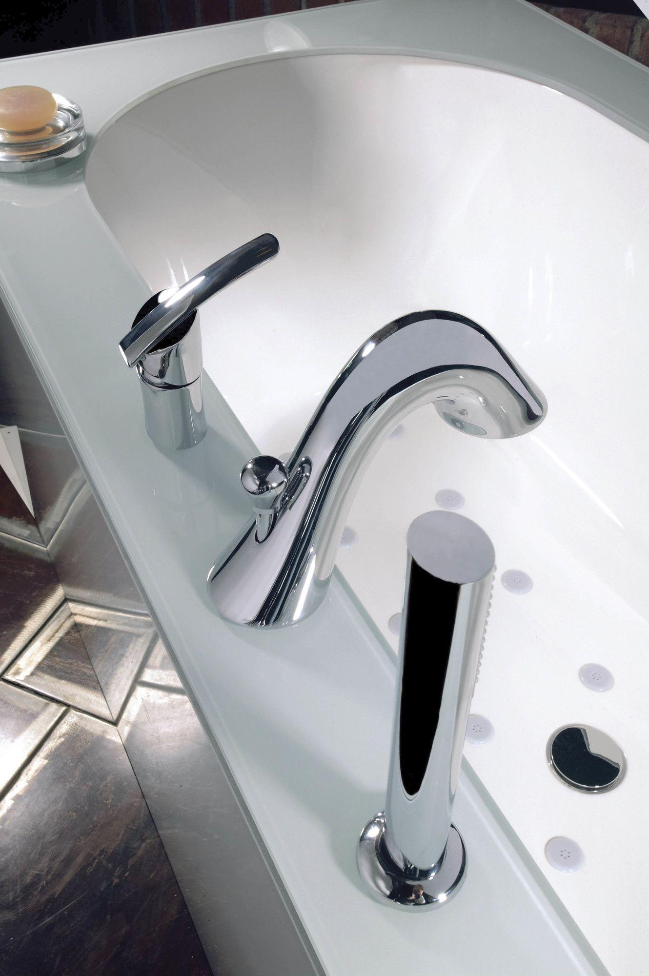Artos Vienna Single Handle Deck Mount Roman Tub Faucet Trim ...
