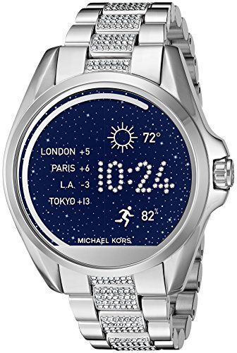 cb4ae443550fd Michael Kors MKT5000 Digital Bradshaw Silver-Tone Access Touch Screen  Smartwatch.