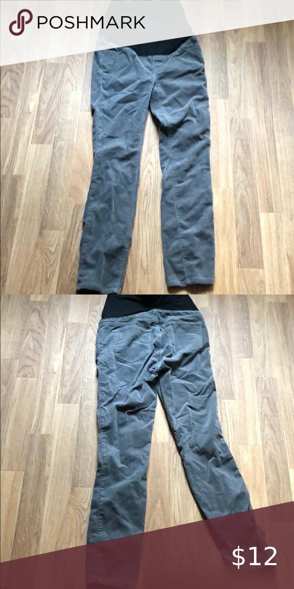 Loft Gray Corduroy Skinny Maternity Pants Petite 0 Maternity Pants Pants Skinny