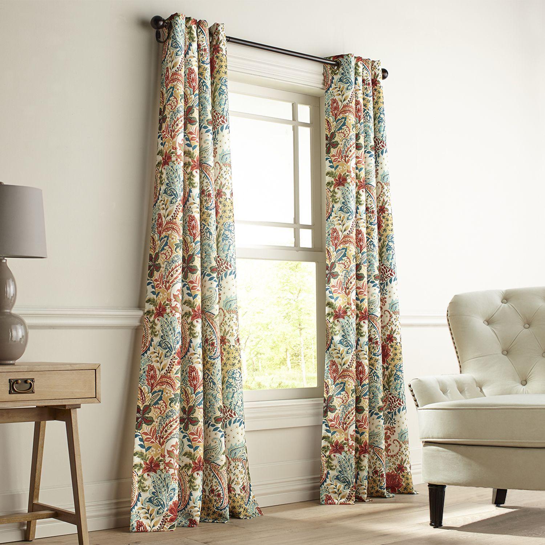 Clara Floral Grommet Curtain