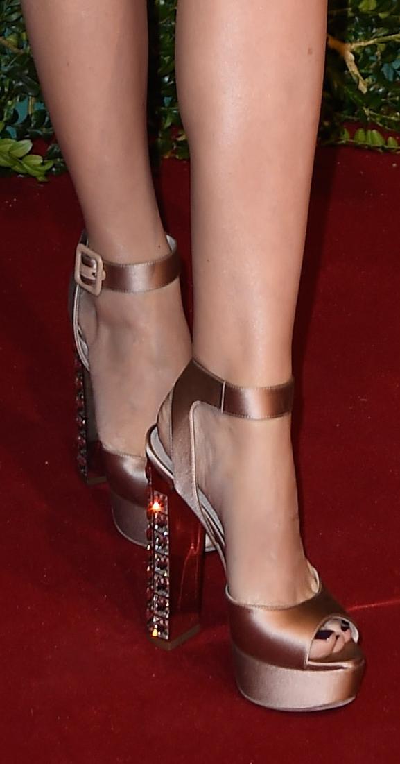 Language In 45 And 47 Stella Street: Kylie Minogue's Bejewelled Miu Miu Satin Sandals At Last