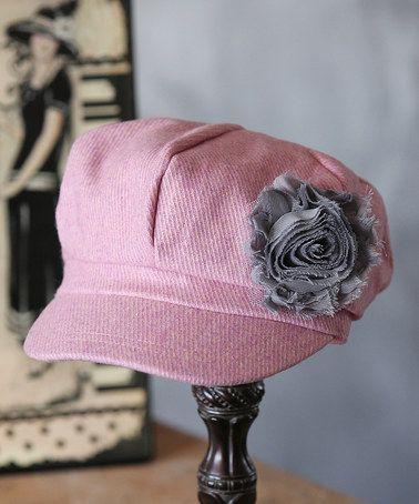 Another great find on #zulily! Pink Wool-Blend Newsboy Cap - Toddler & Girls #zulilyfinds