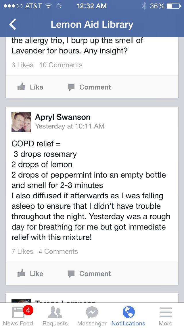 COPD, I used ROSEMARY, PEPPERMINT and LEMON  I used: 45