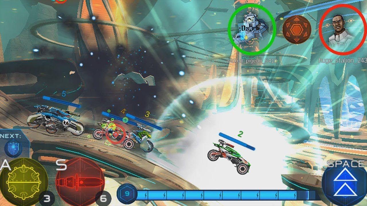 Cyber Gears Futuristic Multiplayer Racing Game by Kizi