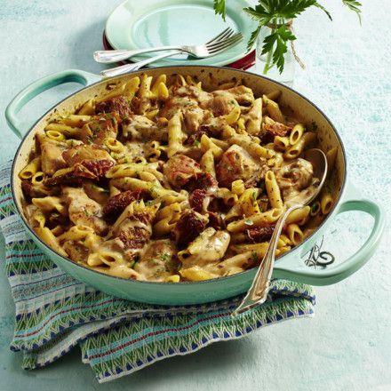 Photo of Chicken and Mozzarella Noodles with Dried Tomato Recipe DELICIOUS