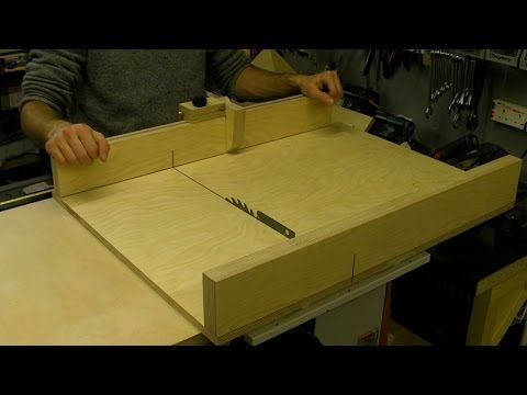 How To Build A Table Saw Sledge / Sled - with Flip Stop