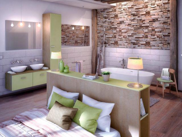 suite parentale 10 solutions pour s parer la chambre de la salle de bains chambre suite. Black Bedroom Furniture Sets. Home Design Ideas