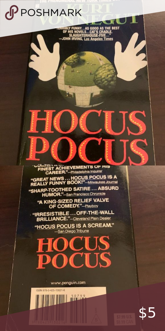 Hocus Pocus Book Hocus Pocus Book By Kurt Vonnegut This Book Is Gently Used And In Great Condition The Pages Contain Zero C Hocus Pocus Book Books Funny News
