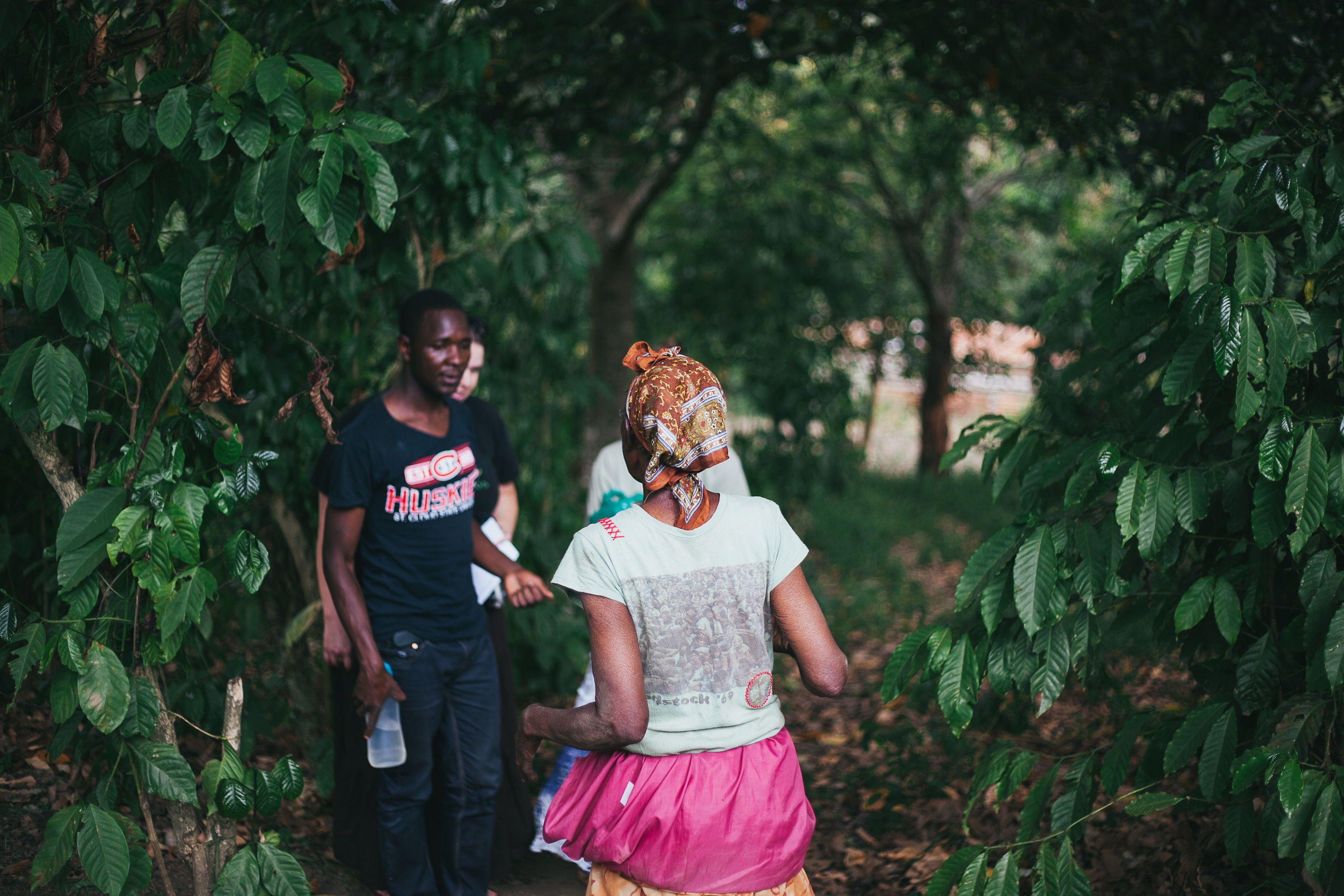 Deep beautiful green Uganda. Child sponsorship