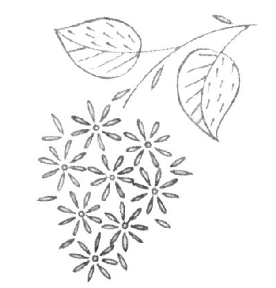 Free Embroidery Pattern: A Bunch of Little Flowers