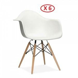 Lot de 6 chaises Design DAW Blanches/Blanc | Meubles | Pinterest