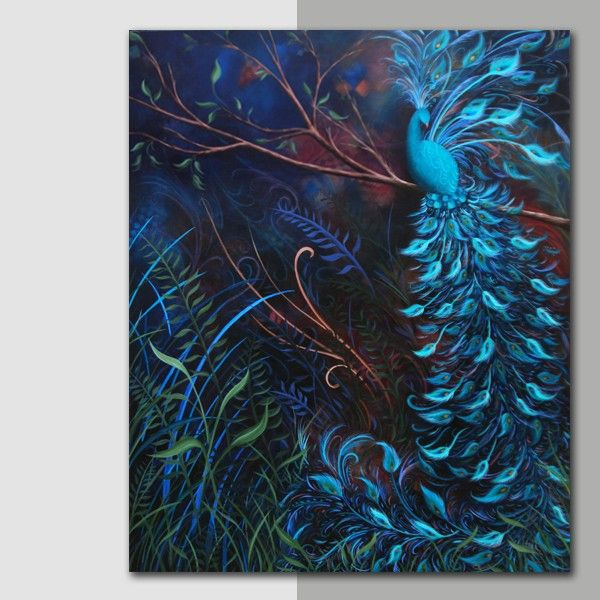 gallery for gt acrylic canvas painting peacock peacocks