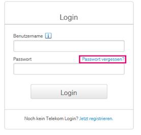 Passwort Vergessen Mit Bildern Internet Tv Wort Telekom