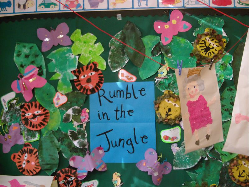 Rumble in the Jungle classroom display photo - Photo gallery
