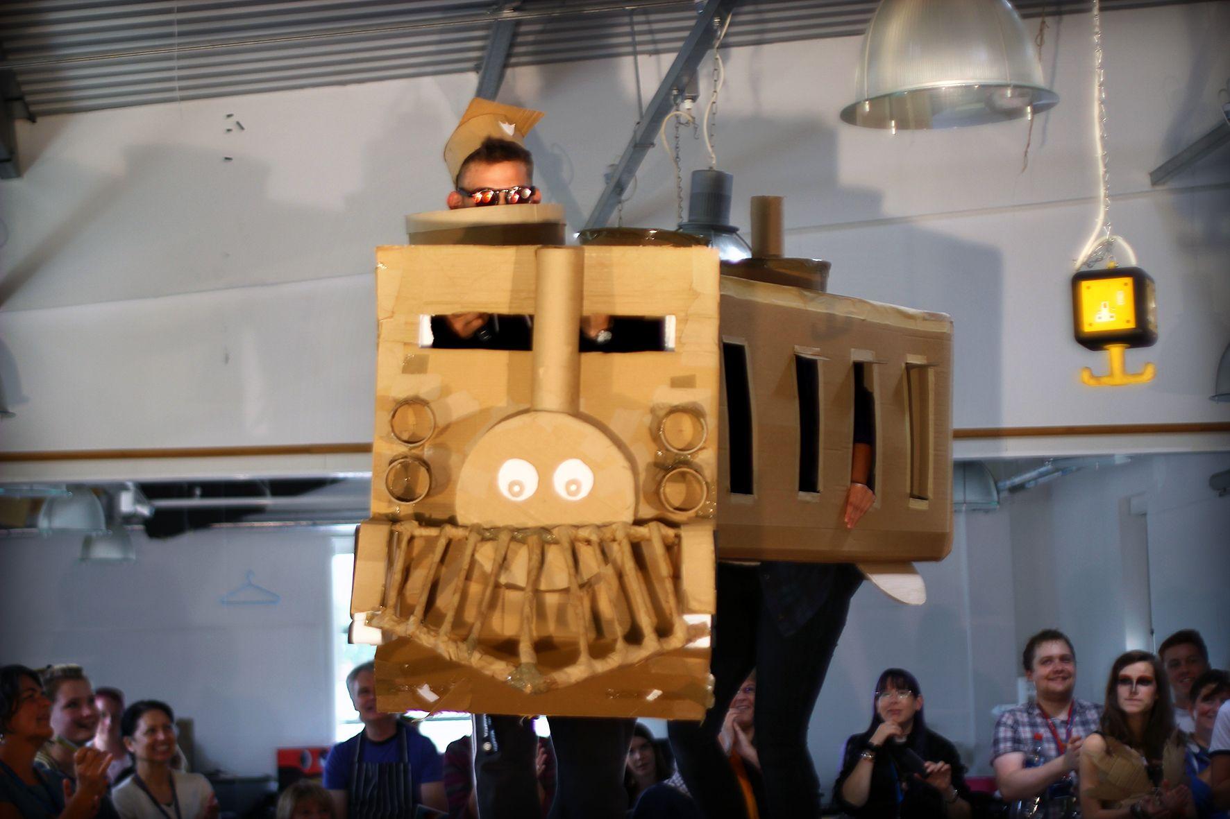 Cardboard Catwalk 2015 // Photo Dave Merritt