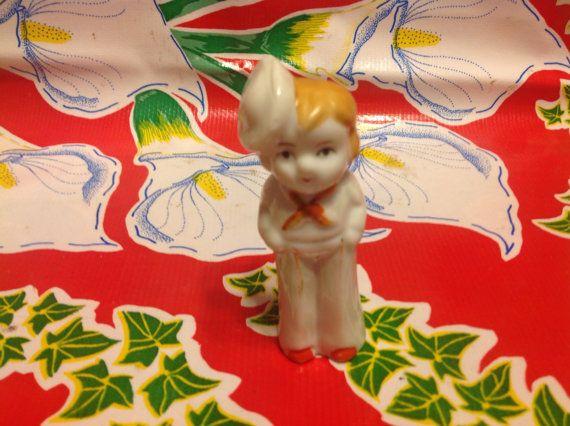 Vintage hand painted sailor girl figurine-Japan by ApronForest