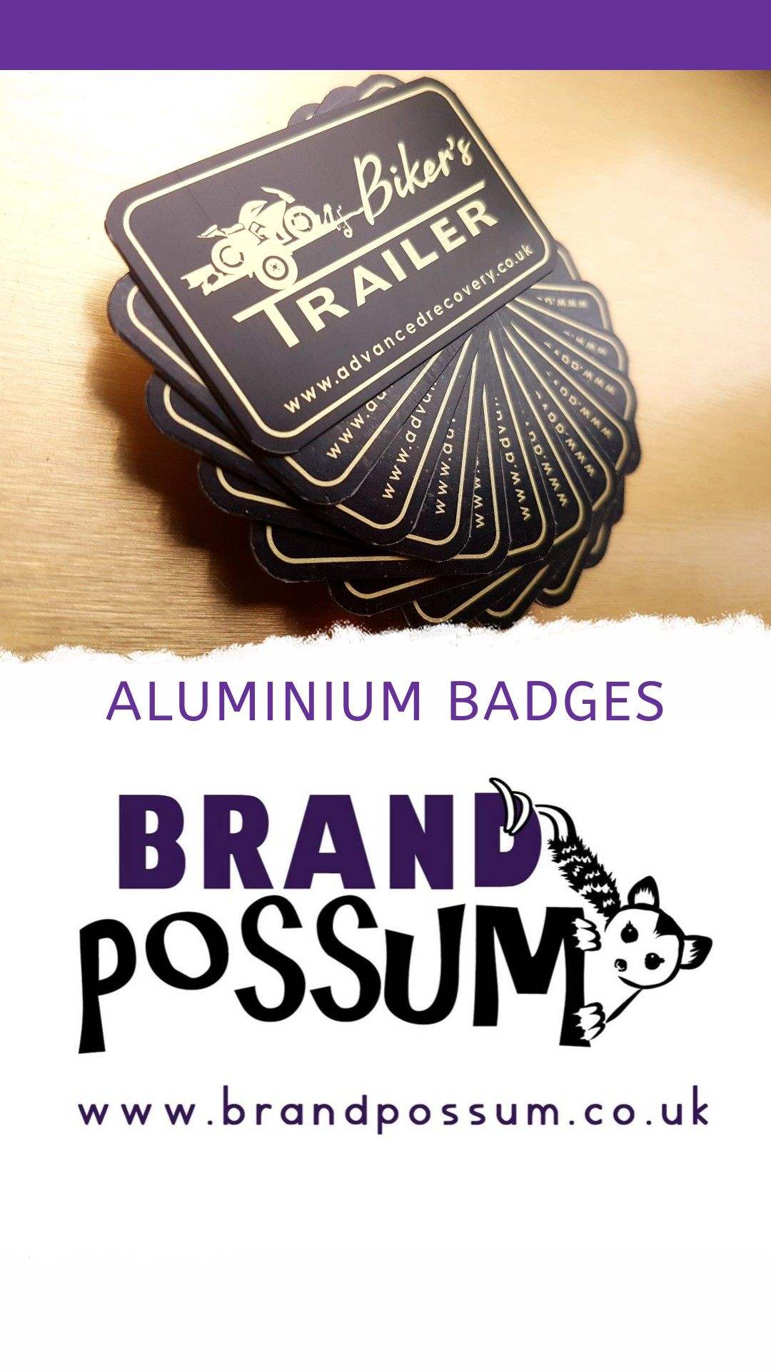 Aluminium badges designed, manufactured & hand delivered by Brand Possum to the lovely @advanced_recovery_systems - Give them a follow on insta...go on, it is #friday! 😉 www.brandpossum.co.uk . . . #BrandPossum #branding #badge  #aluminium #marketing #creativeagency #design #motorcycle #bikes #trailer #manufacturing #friday #instagram #motivation #suffolk