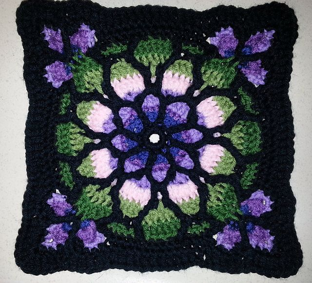 Ravelry Project Gallery For Stained Glass Window Afghan
