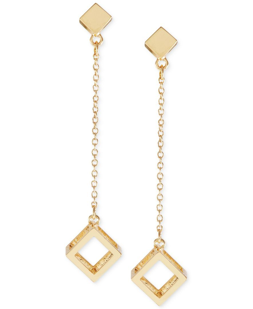 French Connection Cube Drop Earrings